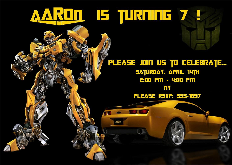 Free Printable Transformer Birthday Invitations For Boys