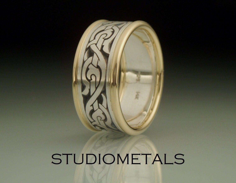 Mens Wedding Band Nordic Ring Viking Ring Mens By Studiometals