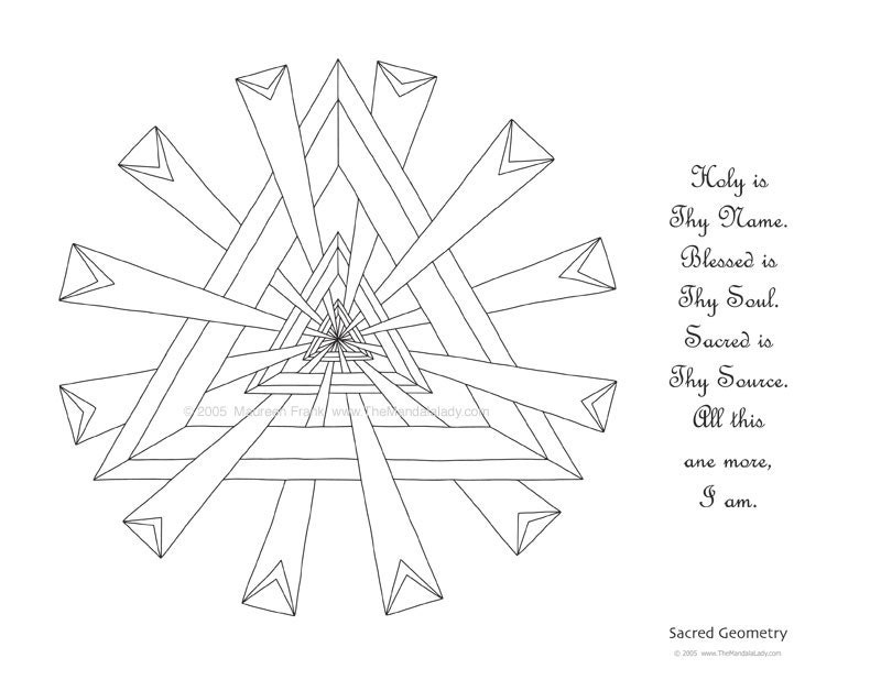 sacred geometry coloring pages - photo #41