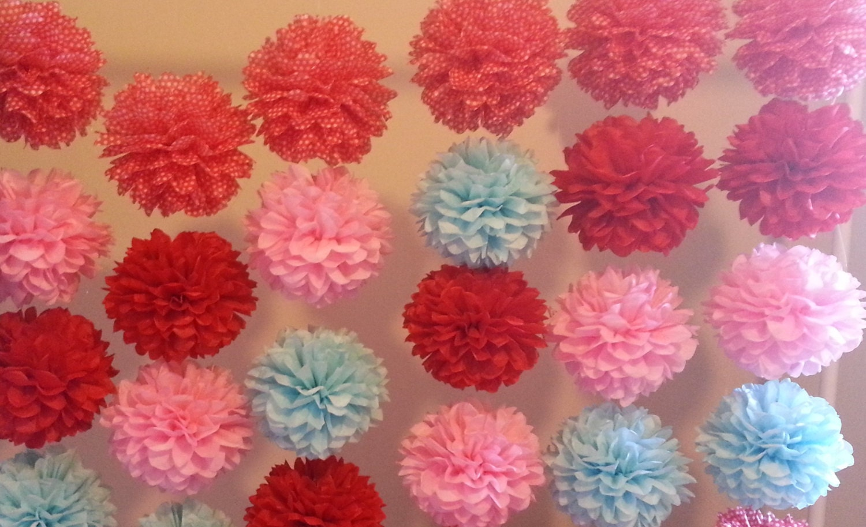 how to make tissue paper pom pom garland