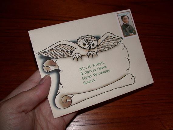 Harry Potter Owl Holding Scroll Digital Download by BrittaBlvd