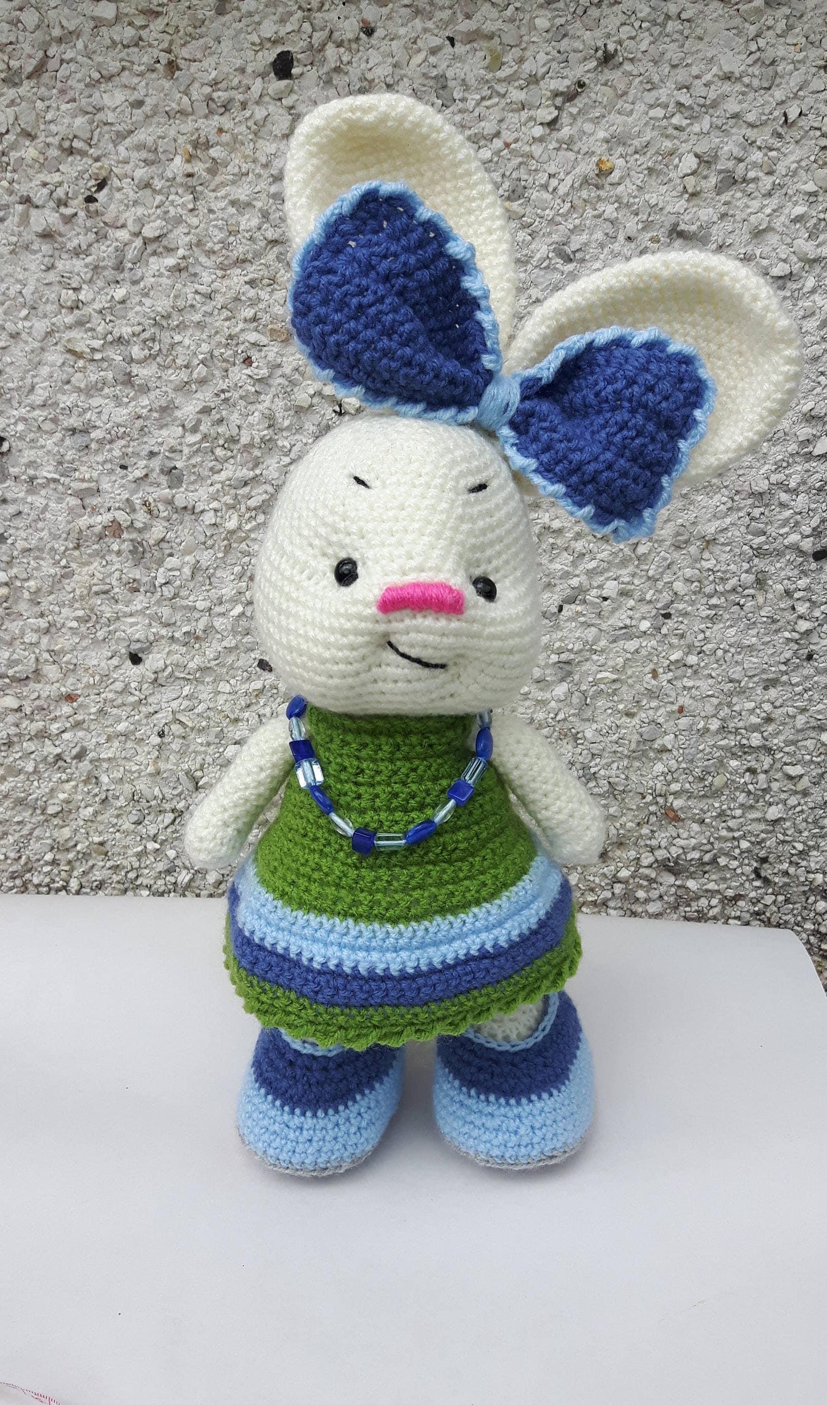 Amigurumi Bunny Crotchet Bunny Happy Bunny Soft Toy Stuffed Animal Amigurumi Toy Toy for Kids Handmade Toy Plush and Cuddly