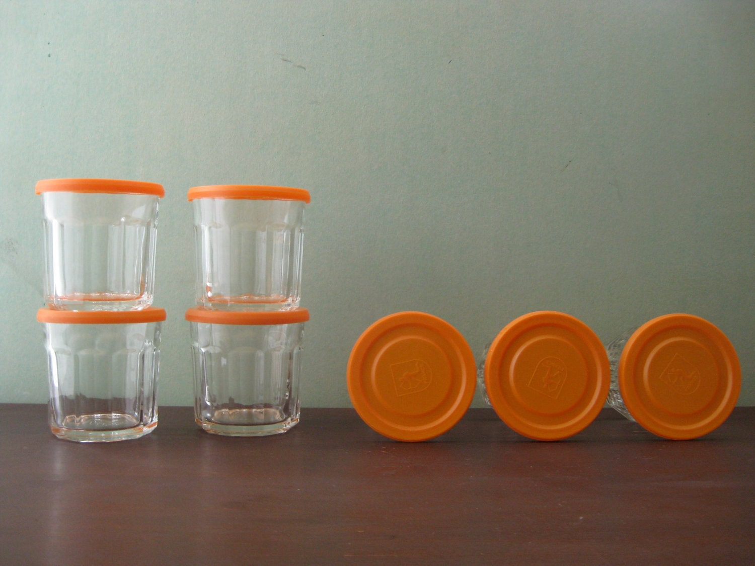 Vintage Jelly Jar Drinking Glasses
