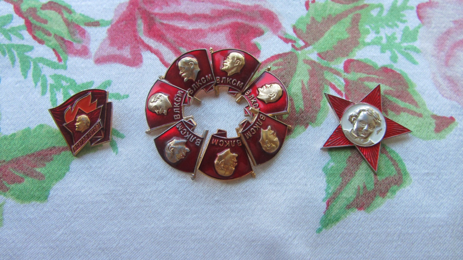 Set of USSR Badges, Metal Pins, 1960s - 1980s, Russian Pins, Souvenir Badges, So