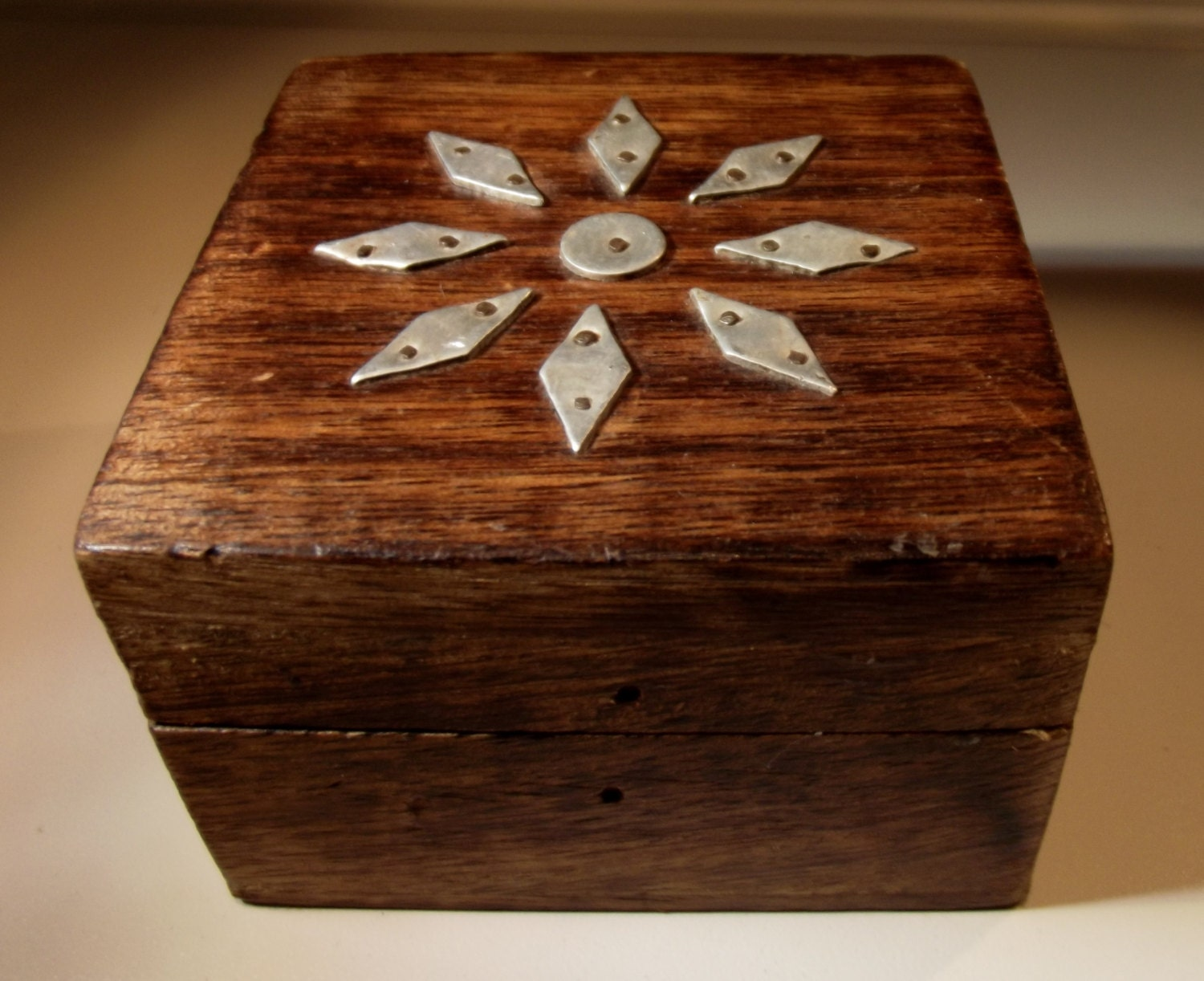 Decorative Metal Boxes With Lids : Box metal wood vintage with decorative by stoneforestjewels
