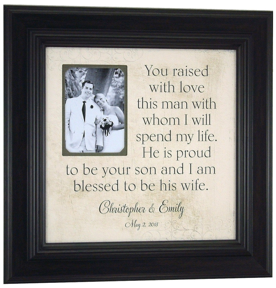 Personalized Wedding Picture Frames Parents : Wedding Picture Frame Personalized, Mother of the Groom Gift, Parents ...