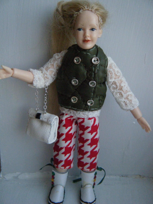 112 scale redarmy greenbootshandbag fashion outfit set for Heidi doll by Jings Creations