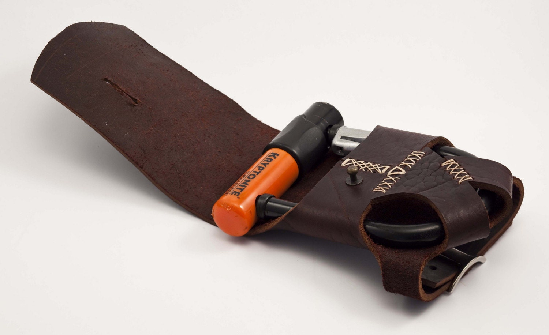 leather bike u lock holster rack mounted by walnutstudiolo. Black Bedroom Furniture Sets. Home Design Ideas