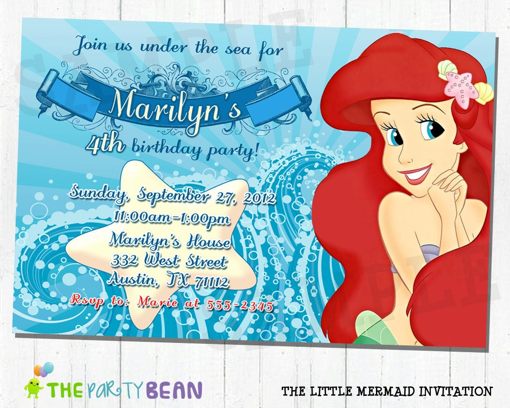 Little Mermaid Handmade Invitations was good invitation sample