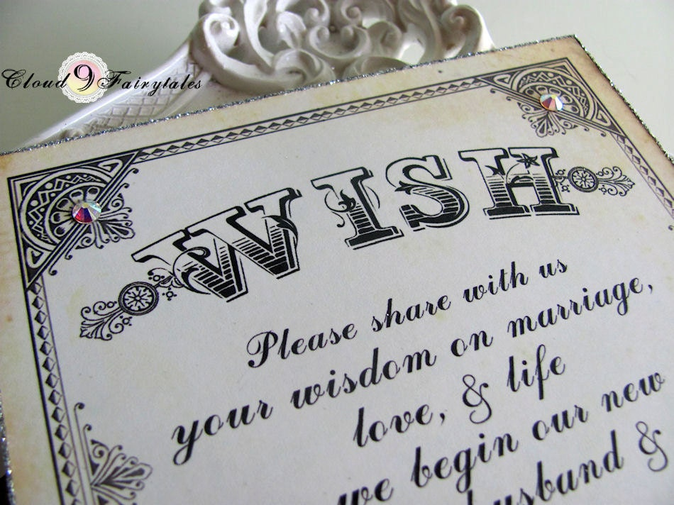 Wish Tree Sign Wedding Wishing Tree By Cloud9Fairytales On
