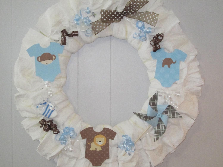 baby boy diaper wreath boy baby shower decoration baby boy gift
