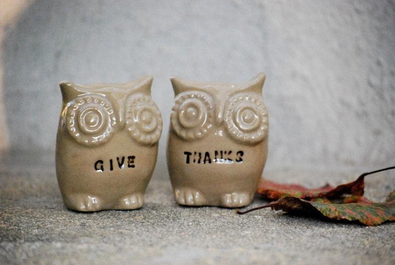 Thanksgiving owl decor - claylicious