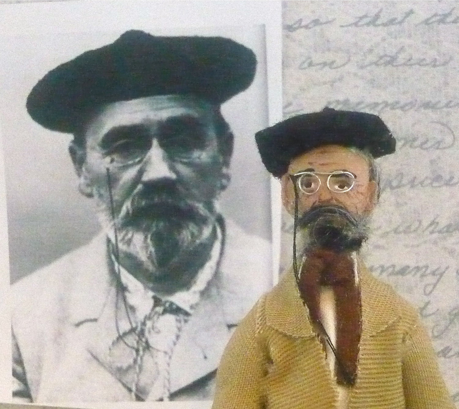 Emile Zola Doll Miniature French Writer Character