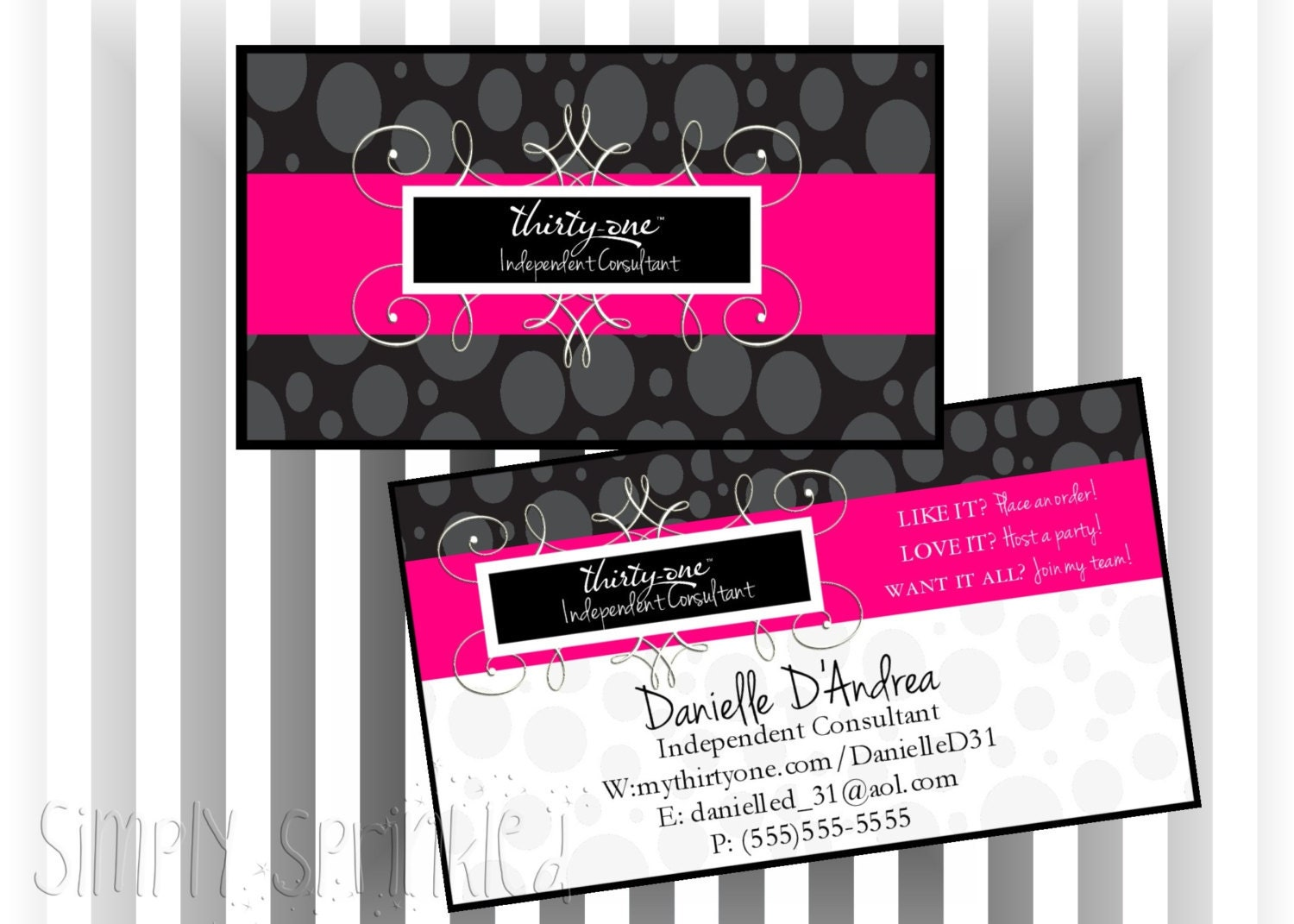 Custom Consultant Double Sided Business Card Frequent