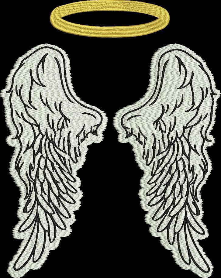 Вышивка крылья ангела 90