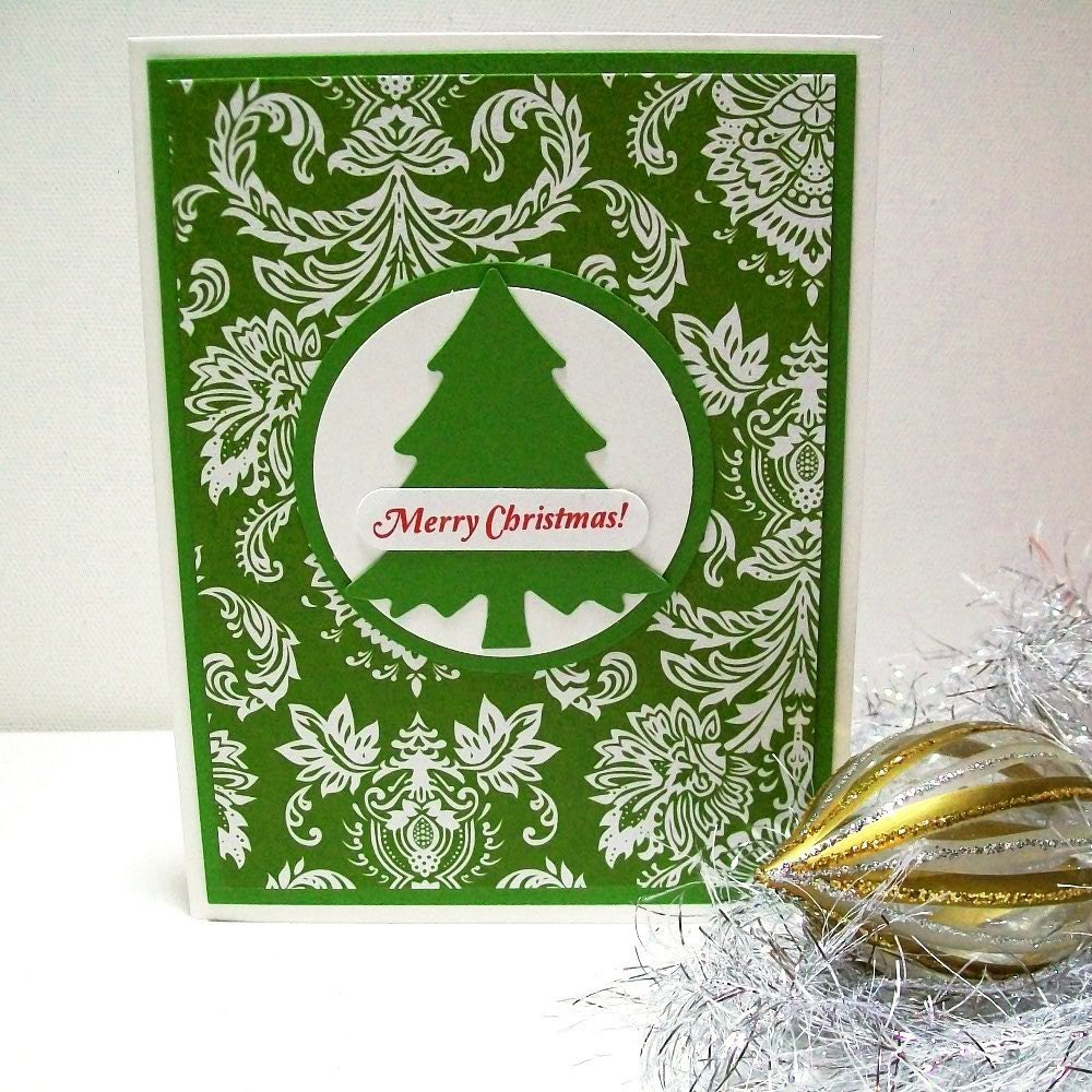 Unavailable listing on etsy for Elegant homemade christmas cards