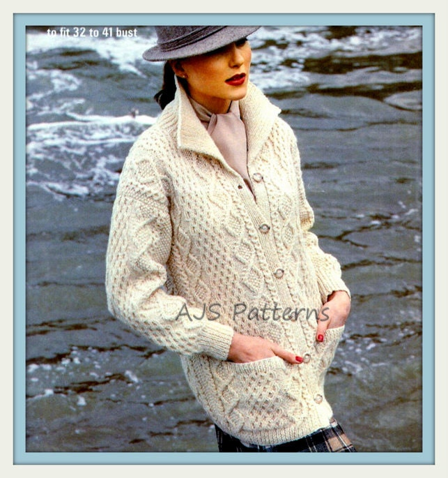 Dorable Free Knitting Patterns For Ladies Aran Cardigans Crest ...
