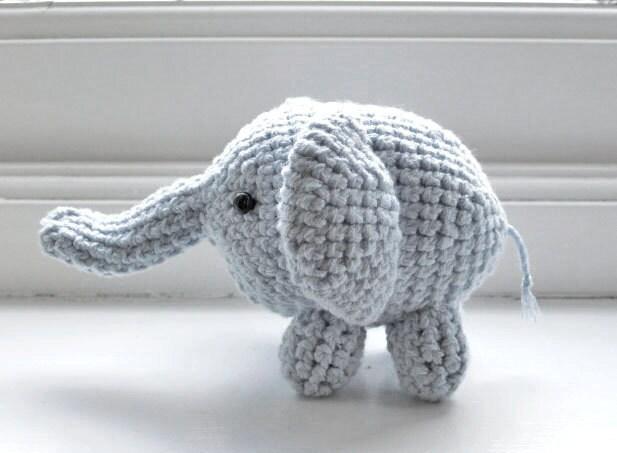 Plushie Elephant - crocheted amigurumi