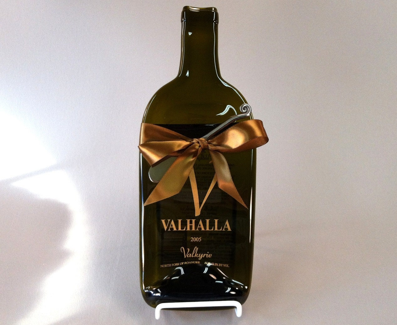 Melted wine bottle cheese tray valhalla by mitchellglassworks - How do you melt glass bottles ...