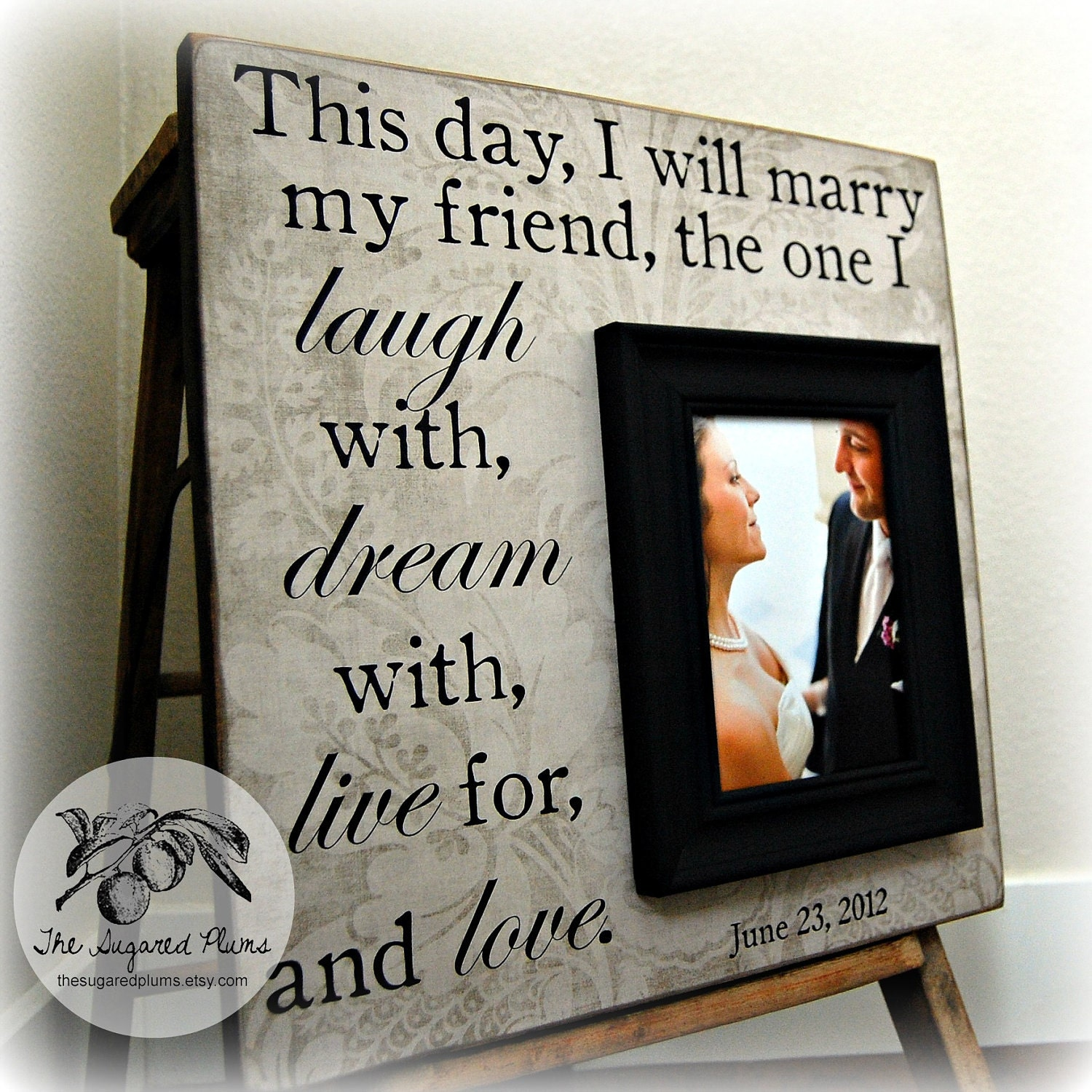 Cool Wedding Gifts For Parents : Wedding Gift, Unique Wedding Gift, Personalized Picture Frame, Gifts ...