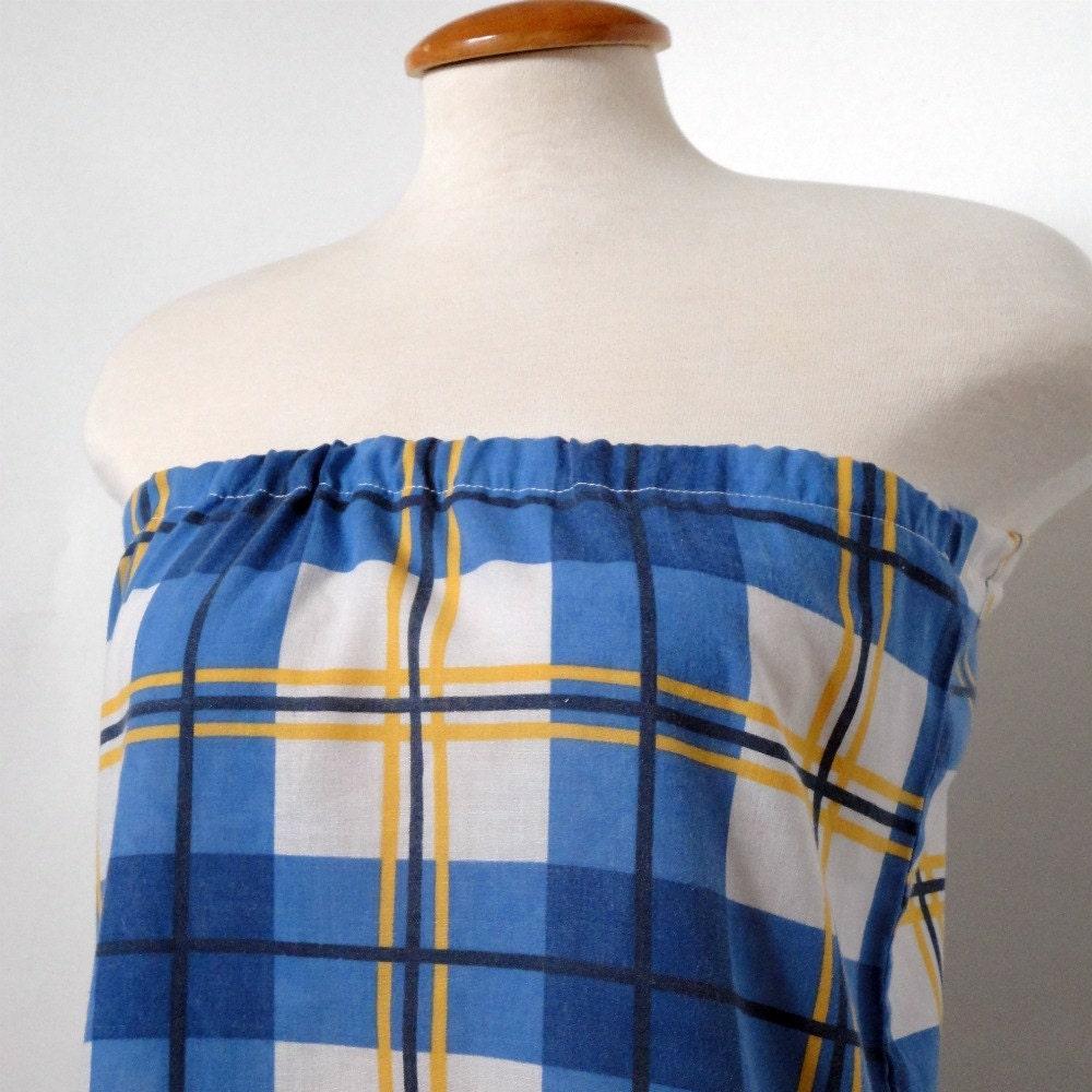 Womens Eco Fashion. Upcycled Clothing Women. Tunic . Blue