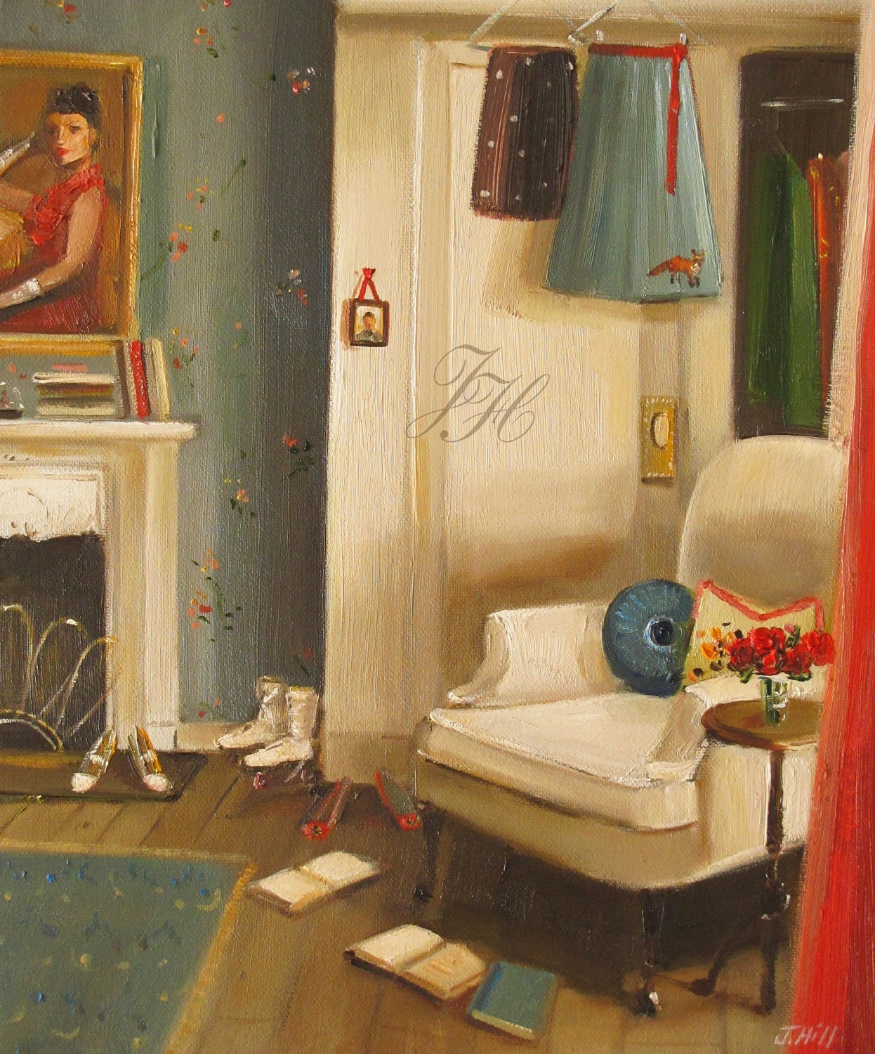 Catherine's Cluttered Room- Limited Edition Print
