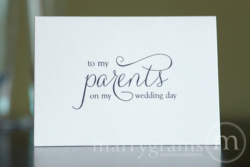 ... Parents of the Bride or Groom Cards - Parent Wedding Gift Card CS01