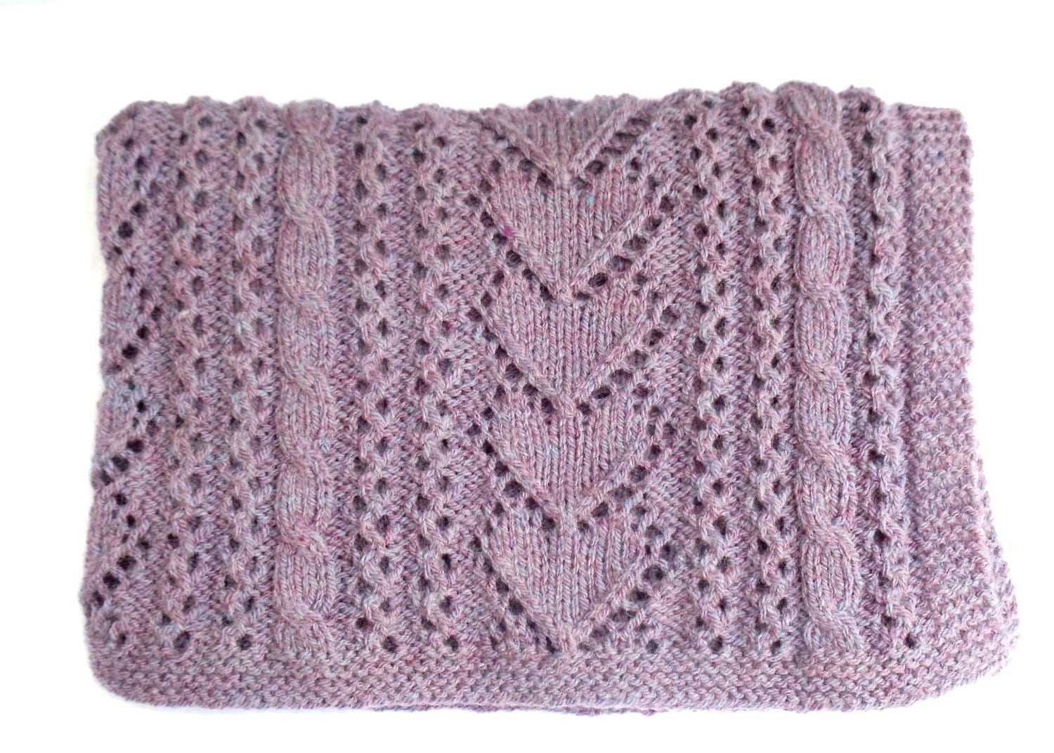 Aran Knitting Patterns To Download : Aran Knitting Pattern Baby Blanket Instant by TheWoollyKnitter