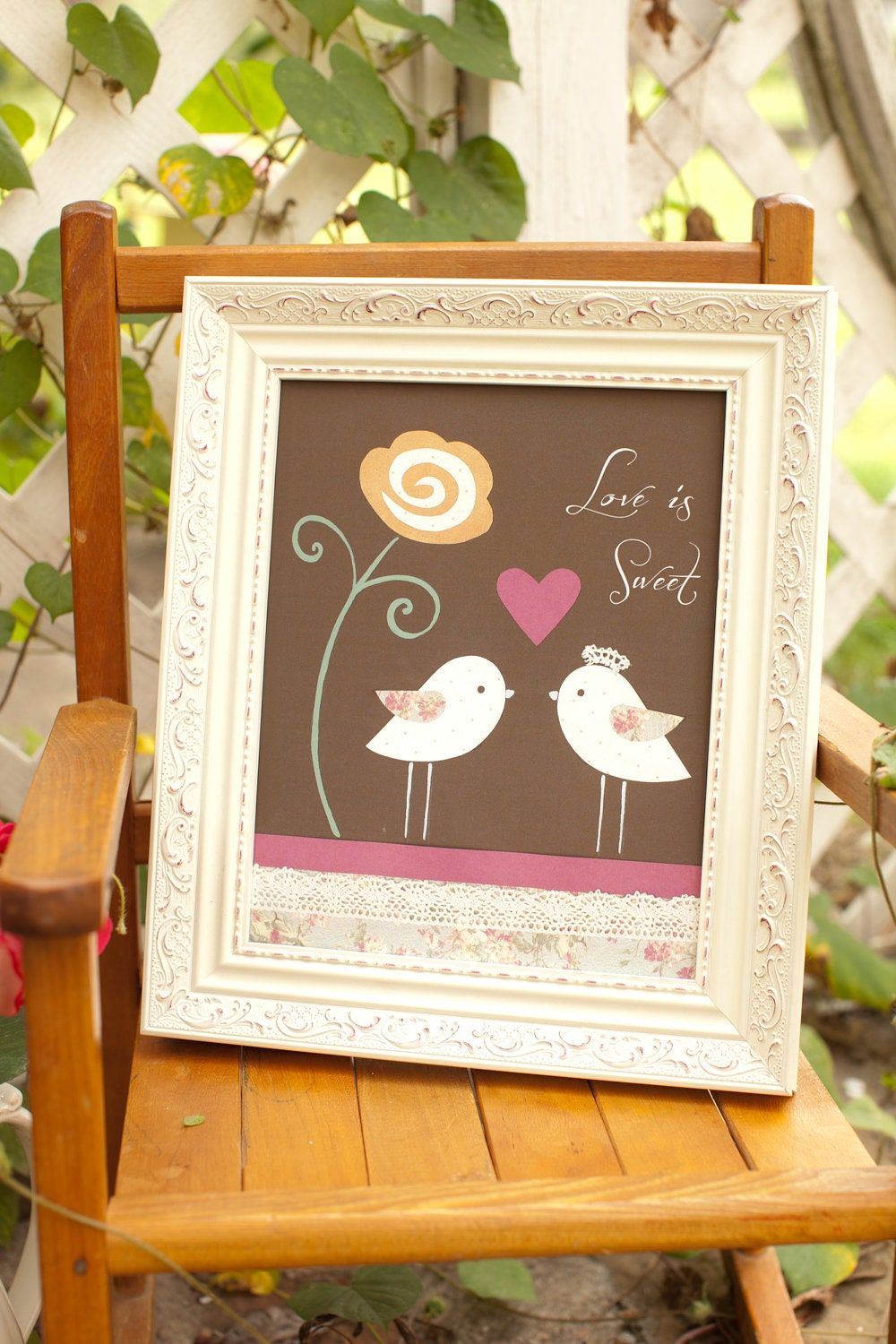 Fall Decorations Vintage Wedding Decor Love Is By PeanutAndButtons