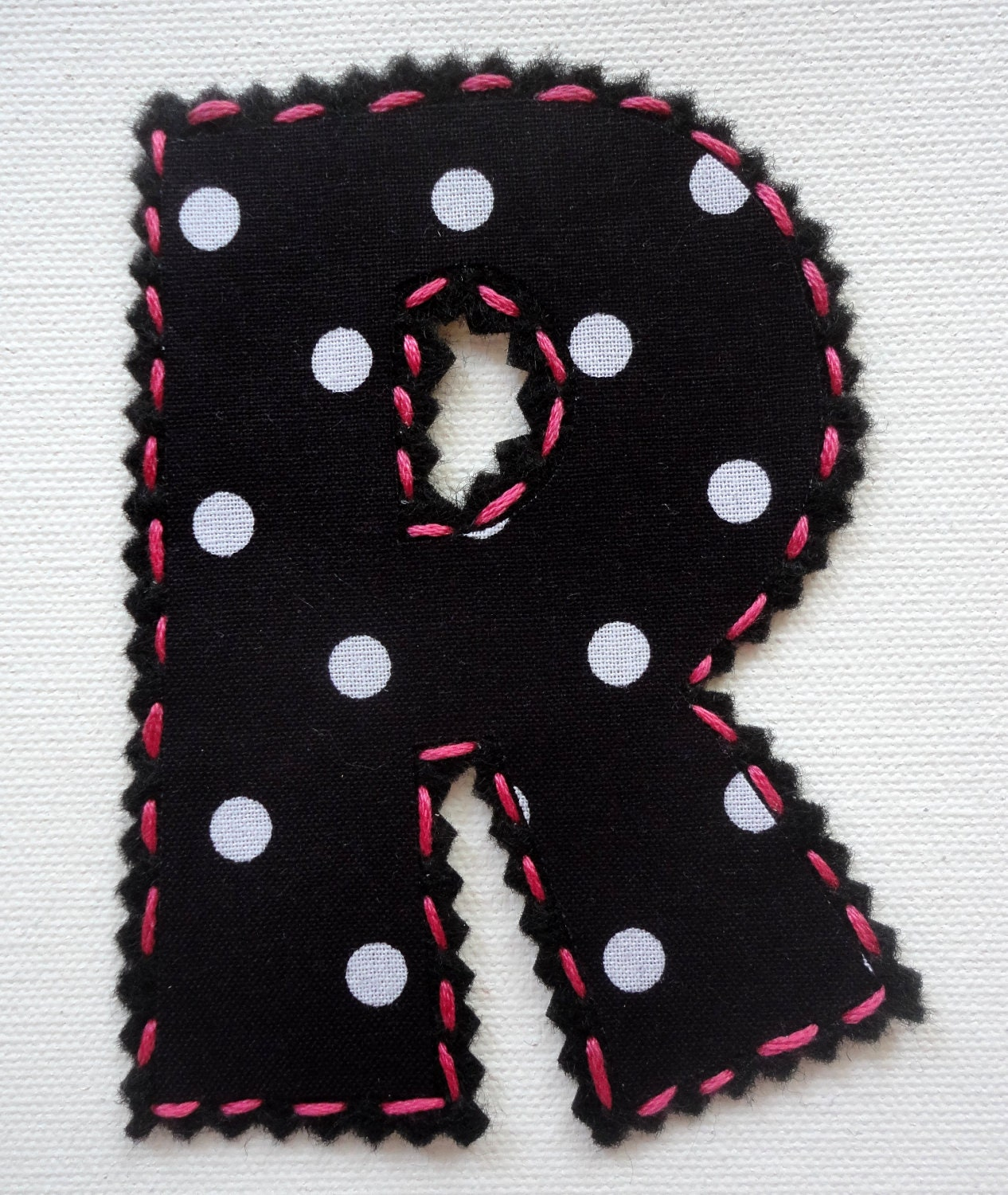 6 inch stitch fabric iron on letter With 6 inch iron on letters