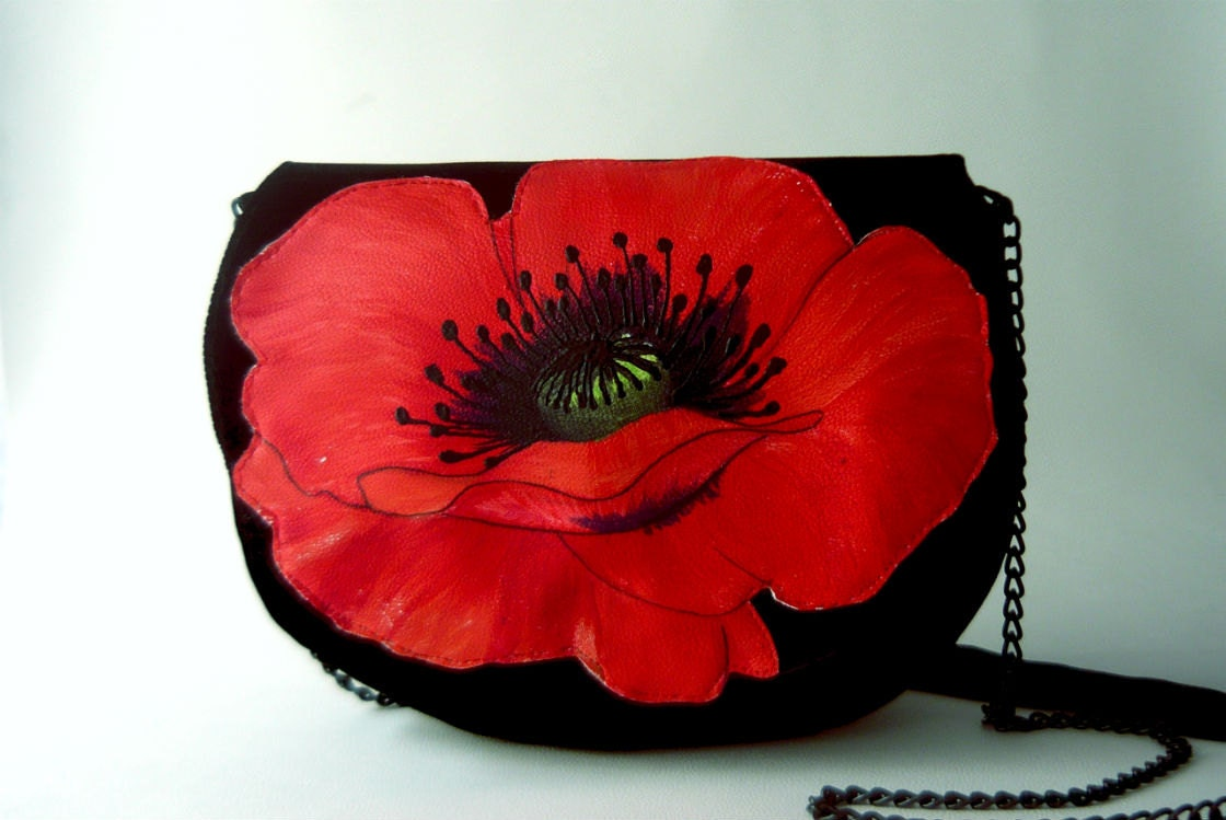 Mac-Mac - Big red poppy purse