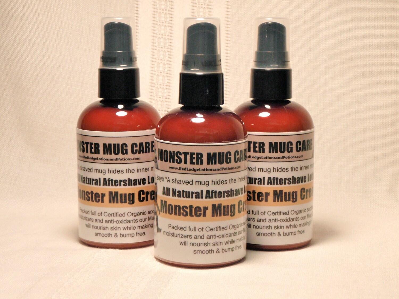 Man Cave Moisturiser : Mens all natural monster mug cream aftershave lotion by