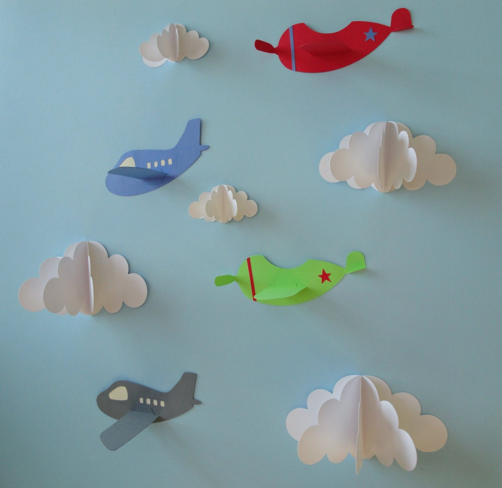 Airplane wall decals plane wall decals planes and by for Airplane wall decoration