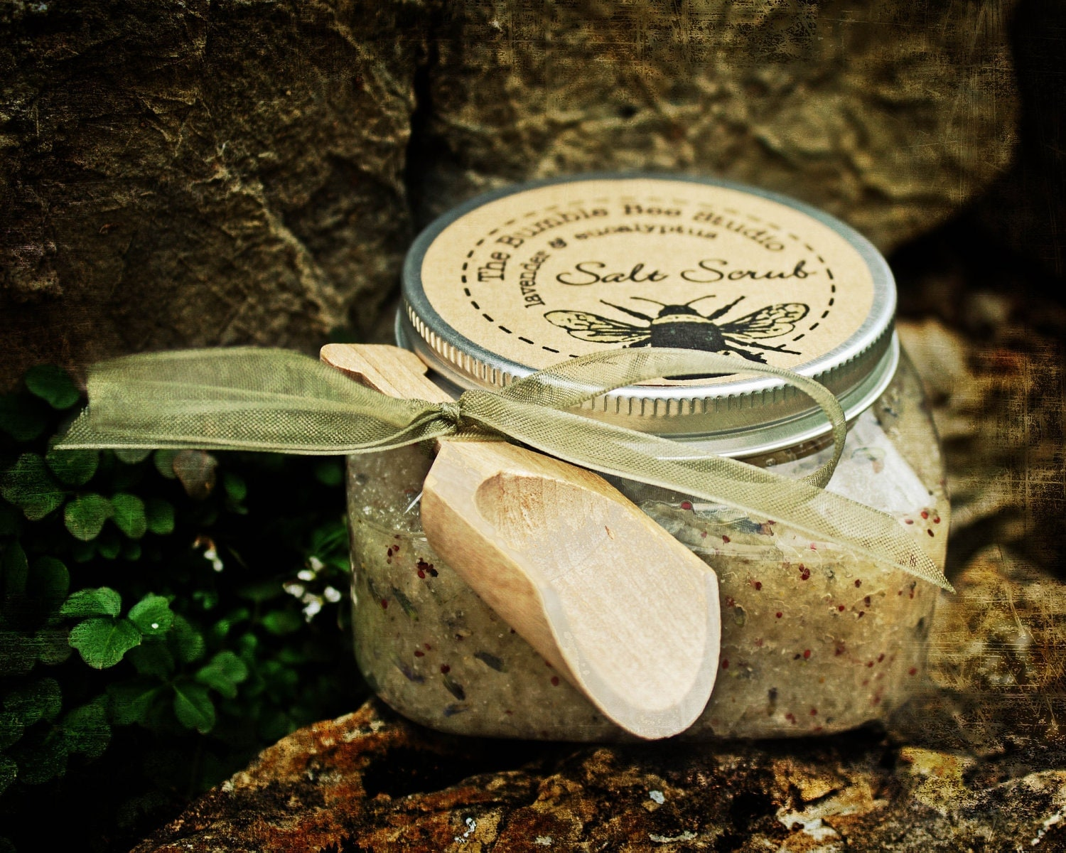 "Sea Salt Body Scrub - lavender eucalyptus...a top ten beauty product for spring from the ladies at ""Whom You Know"""