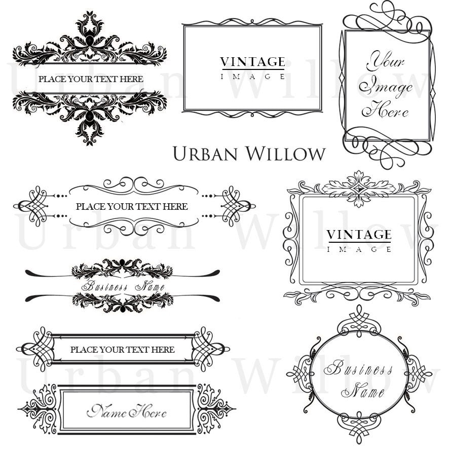 Ornaments Frame Png Ornamental Vintage Frames Pack