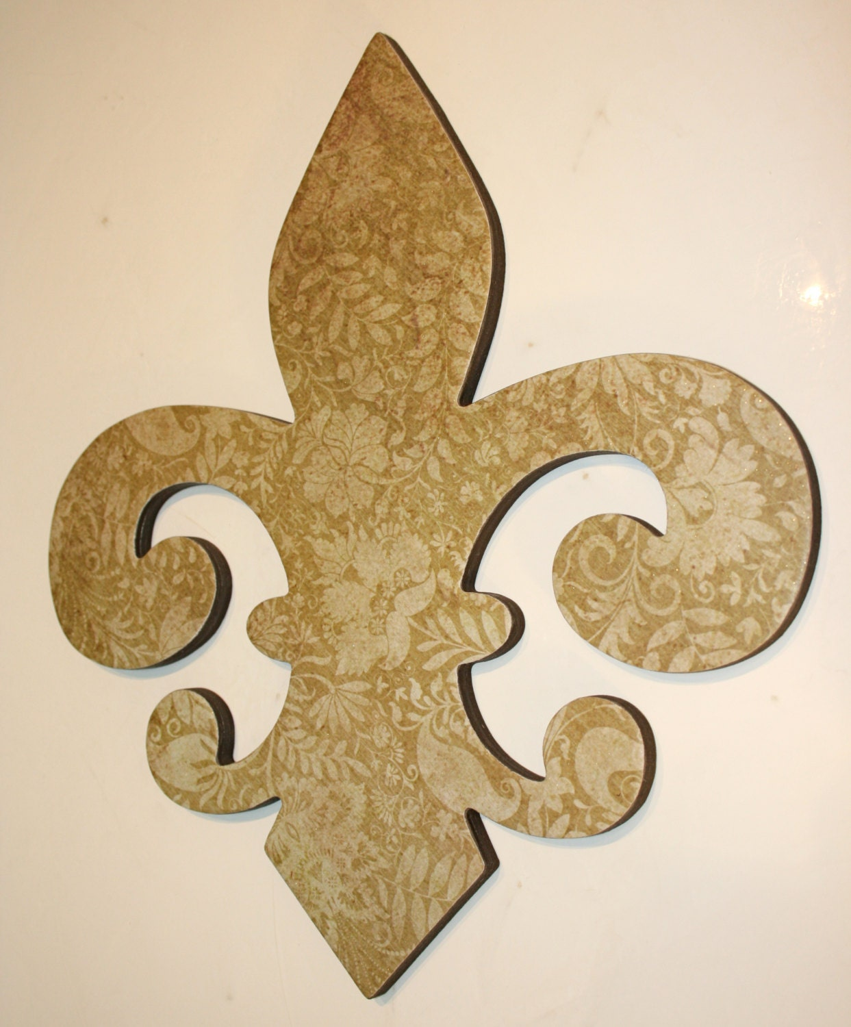 Fleur de lis wall decor gold wall decor by Fleur de lis wall