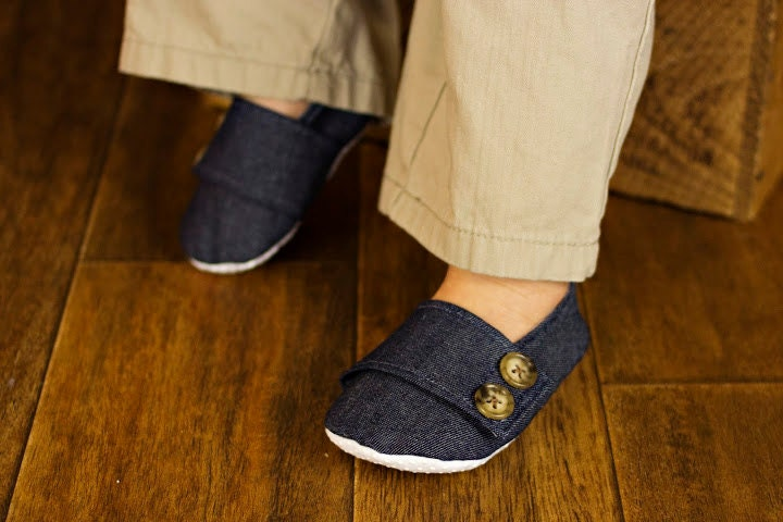 Denim Baby Boy Soft Soled Baby Shoes - Infant Shoes