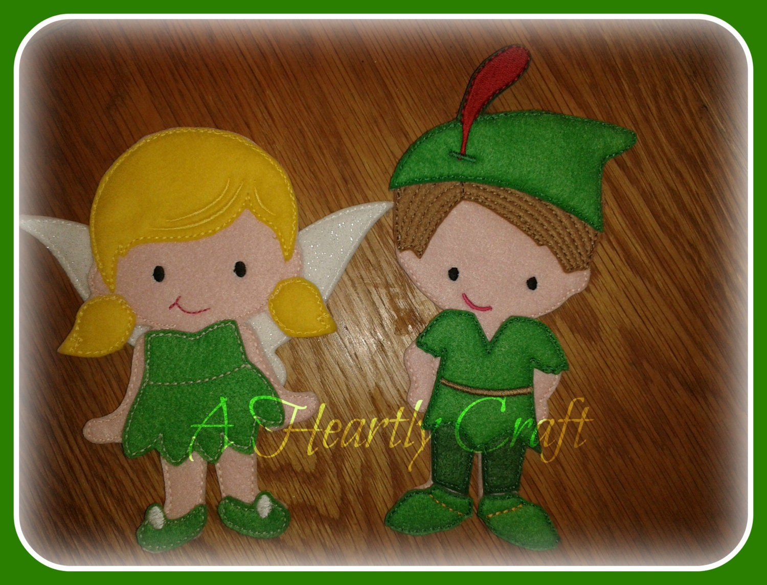 Peter Pan Outfit Only for my Non Paper Dolls Flat Doll Felt Play Quiet play. DOLL NOT INCLUDED
