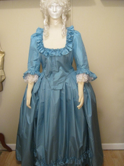 womens colonial dress by verdanta on etsy