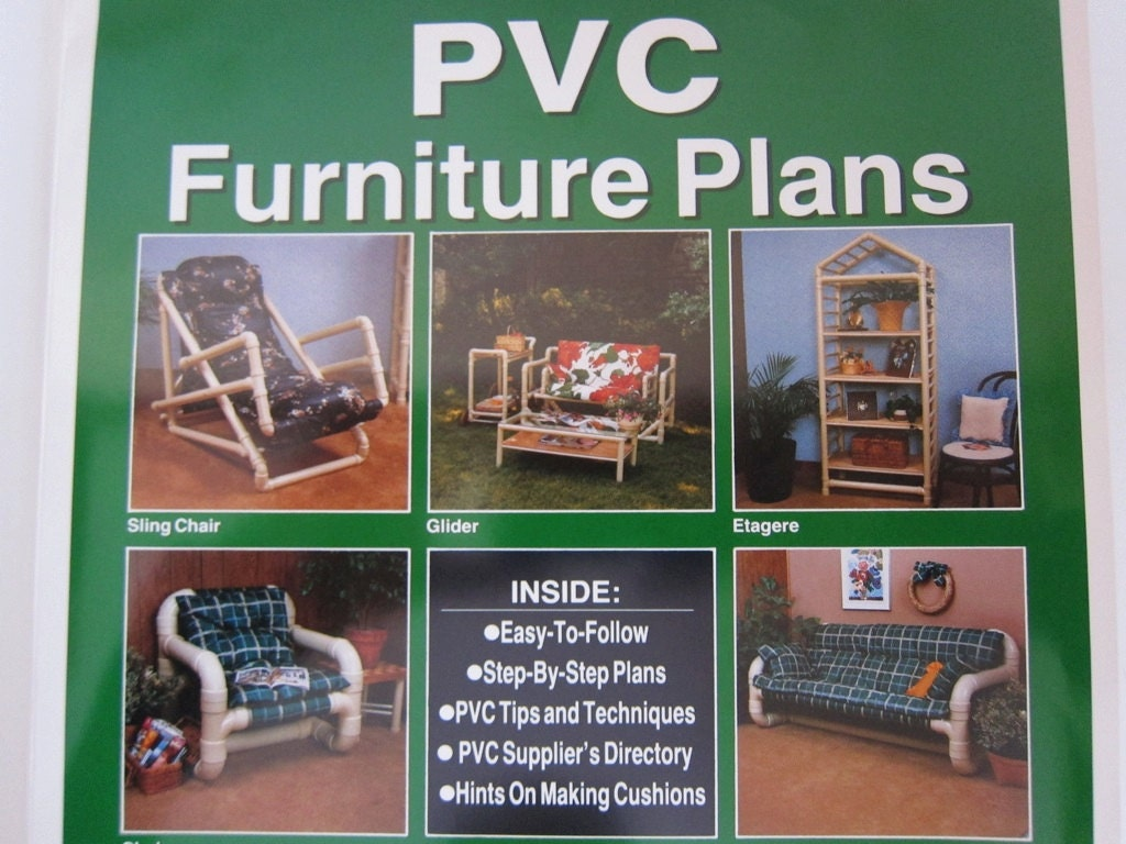 Vintage diy patio furniture plans packet the by for Pvc furniture plans