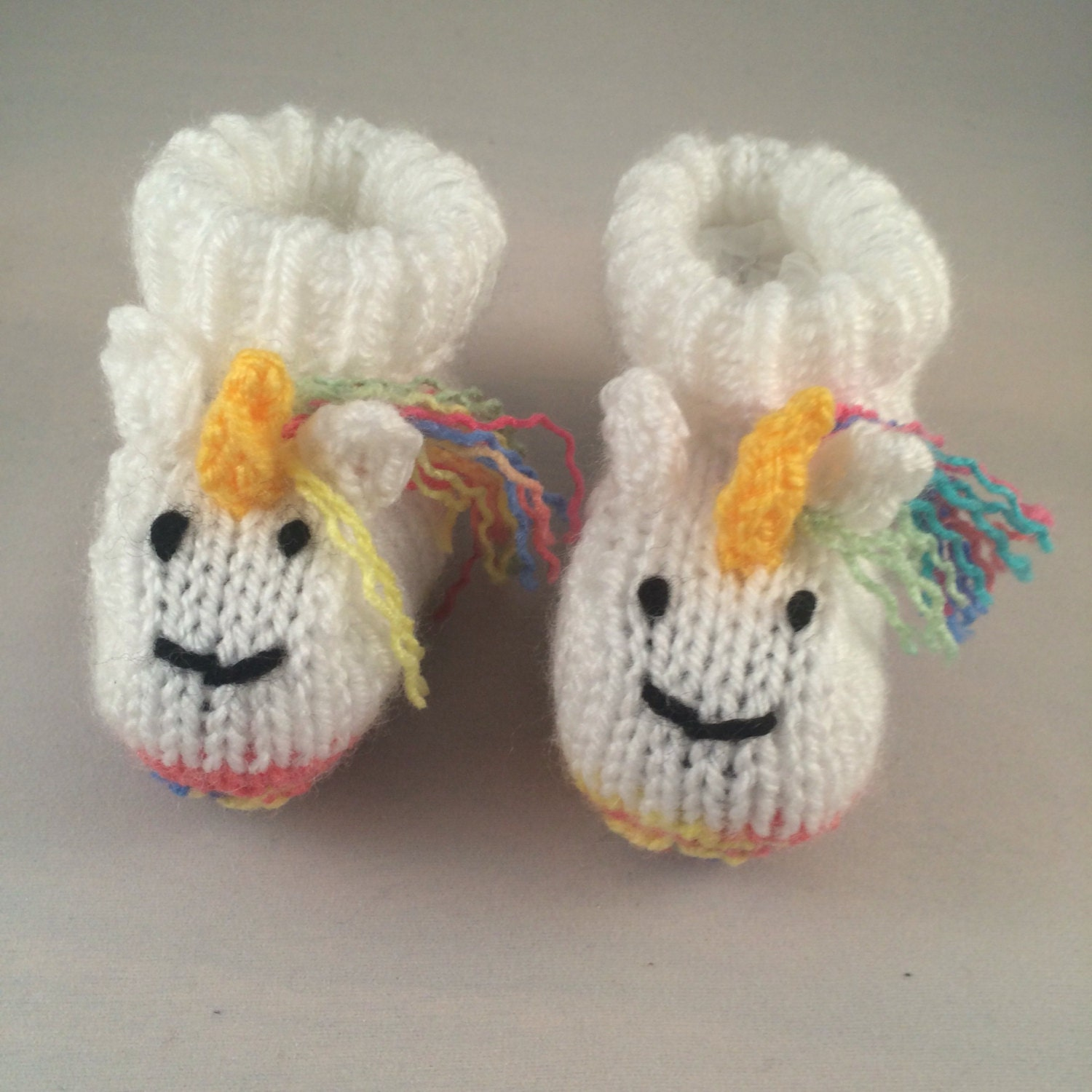 Unicorn baby booties rainbow baby gift boots knitted shoes baby girl baby boy baby shower cute