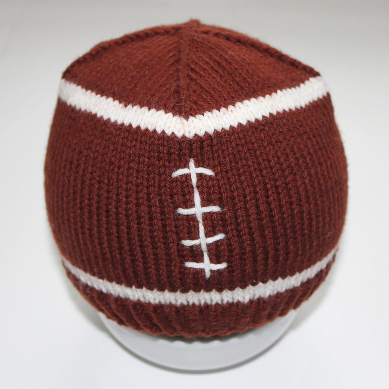 PATTERN Football Baby Hat Knitting Pattern Size by AbsoluteKnits
