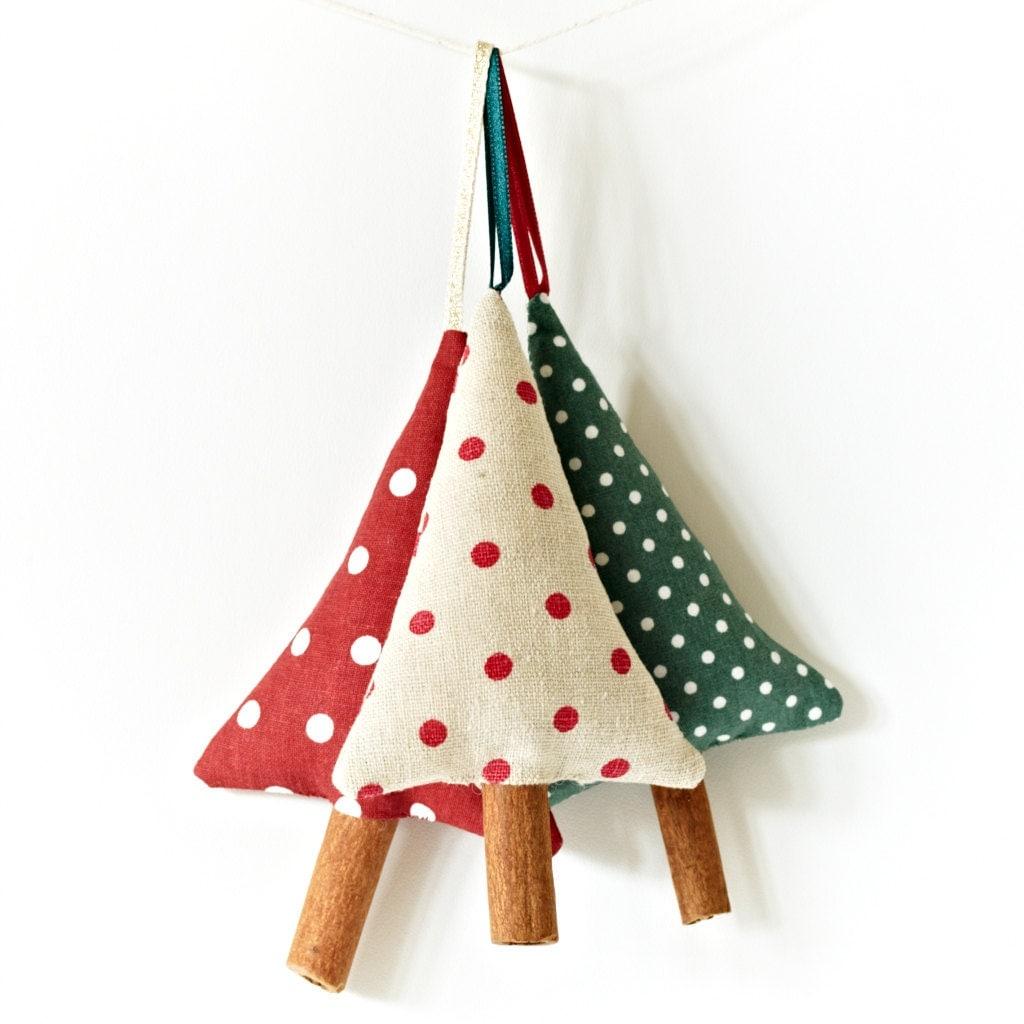 Cinnamon Tree украшения Сельский горошек Новогодние украшения Набор из 3