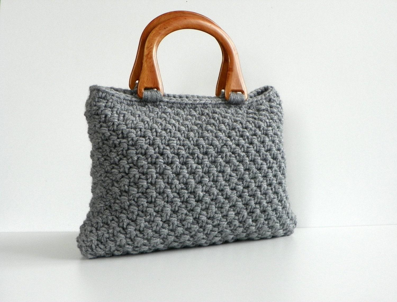 NzLbags Сумочка - Трикотажная сумка - серый, Nr-058 Серый