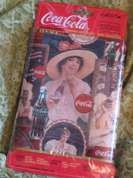 Etsy your place to buy and sell all things handmade vintage and supplies - Vintage coke wallpaper ...