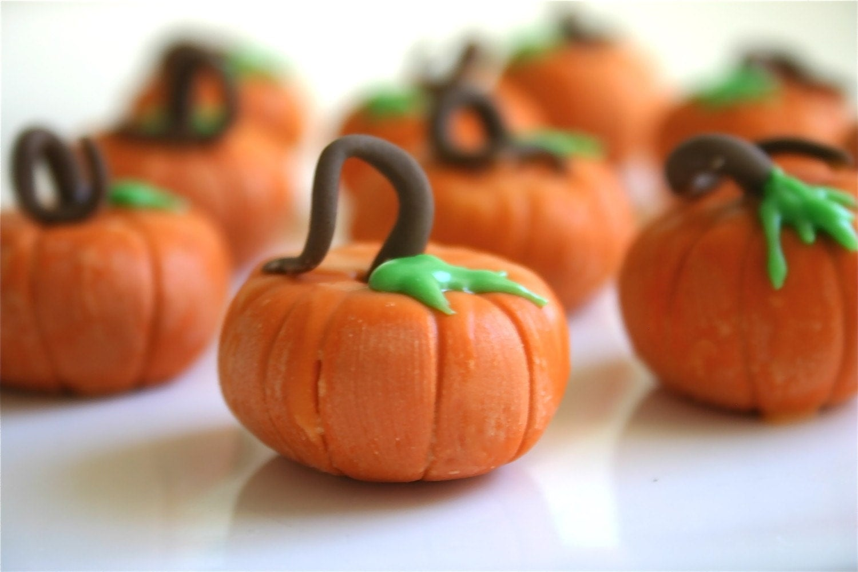 Edible Chocolate Filled Candy Pumpkins 1 DOZEN