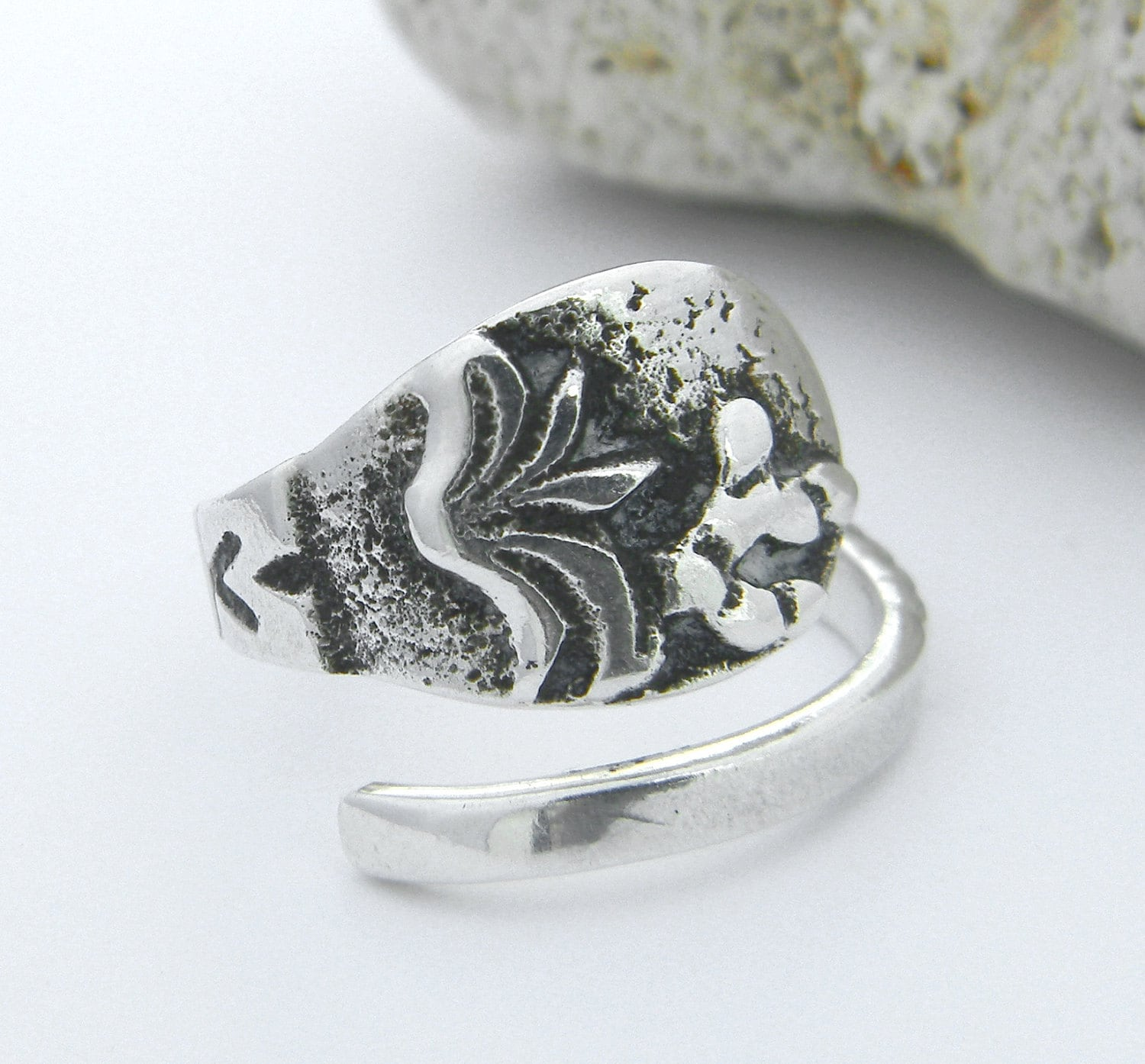 sterling silver spoon ring mexico by californiaspoonrings