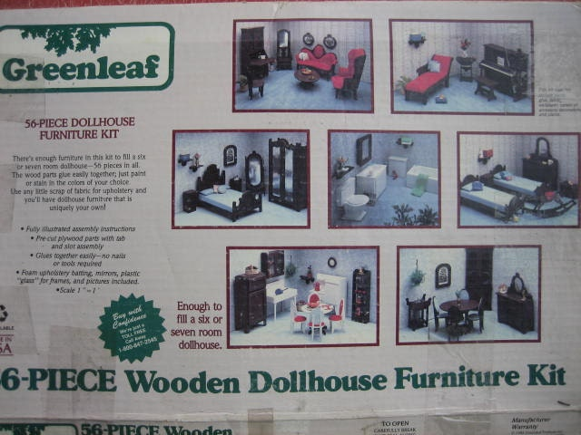 Greenleaf 56 Piece Wooden Dollhouse Furniture By Merlesvintage