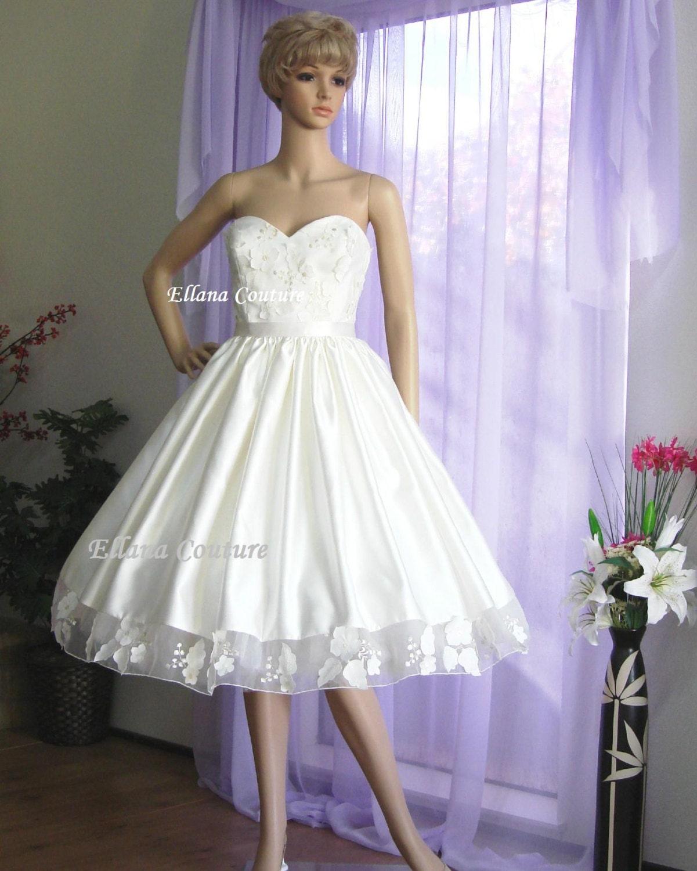 Tea length vintage wedding dresses cheap wedding dresses another picture of tea length vintage wedding dresses ombrellifo Images