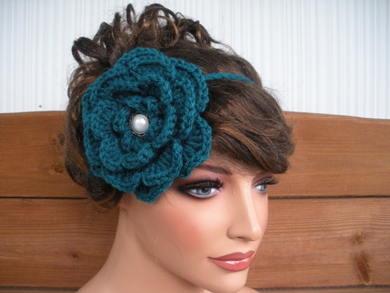 Crochet Headband Women Crochet Flower Hair Accessories Women Crochet ...